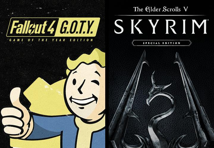 The Elder Scrolls V: Skyrim Special Edition + Fallout 4 G.O.T.Y. Steam CD Key